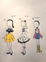 Outfit Adopts ( Closed  ) by MimikyuDawn