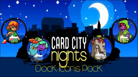 Card City Nights - Dock Icons Pack by courage-and-feith