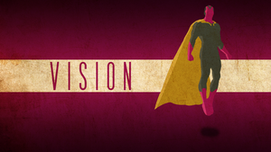VISION- AVENGERS: AGE OF ULTRON WALLPAPER by skauf99