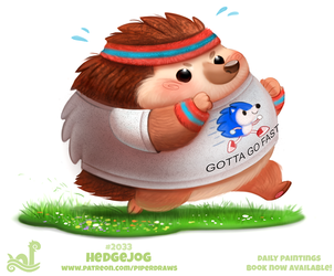 Daily Paint 2033# Hedgejog by Cryptid-Creations