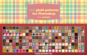 200 plaid patterns for Photoshop by CIRQUAN
