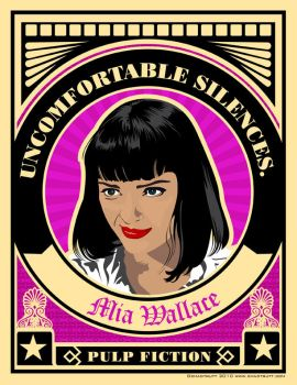 Pulp Fiction Mia Wallace by chadtrutt
