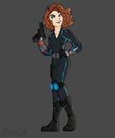 B is for BLACK WIDOW by Bricus27