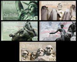 US Currency design by Pinkwolfly
