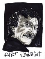 KURT VONNEGUT by drawhard