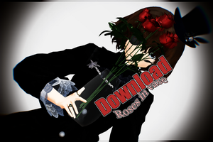 MMD Roses in vase download by NanaSui