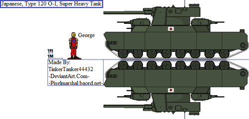 (HIST) Japanese, Type 120 O-I, Super Heavy Tank by TinkerTanker44432