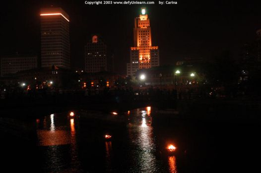 Providence Waterfire 2003 by carina