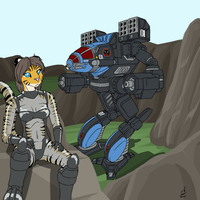 Comm Stumpy: Star Colonel Kell and Timber Wolf DR by prdarkfox