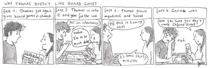 Thomas doesn't like board games by gerre