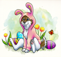 Happy Easter by grouchywolfpup