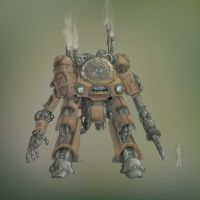 Steampunk Mecha 2 by gabmonteiro9389