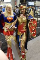 Anme Wonder Woman Supergirl by mjac1971