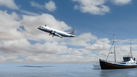 Daz Caparros Mausel P3 Fishingboat Flyby 2 by anthsco