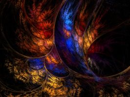 feathered wallpaper by digitalgreenlifeart