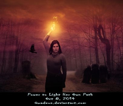 Power to Light Her Own Path by Quadeus