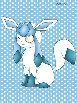 .::Art trade::. Frys the glaceon by Riolu4aural