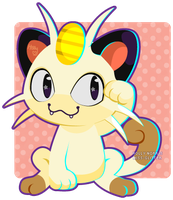 052 Meowth by Miss-Glitter