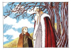 Thranduil and little Legolas by Teodora85