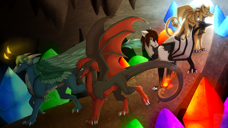 :Commish: - Crystal Cave Exploration (2/4) by Venus-Dragoness