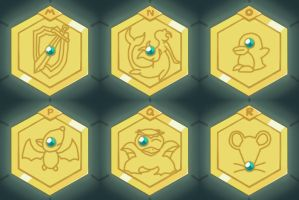 Medabots Medals M-R by neoyurin