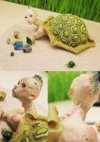 . Turtleman Sculpture . by TheArta