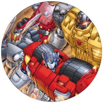 Autobot Collector's Plate by BlondTheColorist