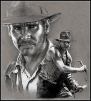 Indiana Jones by doodlingdruid