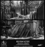 NSA concept art BLACK AND WHITE ENVIRONMENTS by VLADSPARTA