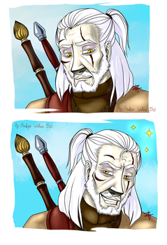 Witcher meme Blank by ArdigaWolfess