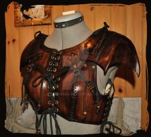 leather armor woman archer by Lagueuse