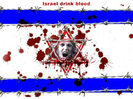 Israel drink blood by isfahangraphic