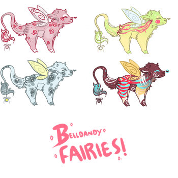 [CLOSED] Fairy-winged Belldandies Flatsale by icicle-fox