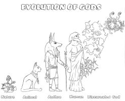evolution of gods by Schatten-Drache