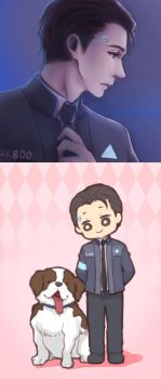 Detroit: Become Human - Connor ranom doodle 01 by PrinceOfRedroses