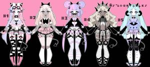 Pastel goth demon adoptable batch open by AS-Adoptables
