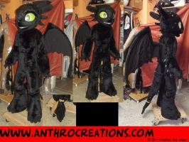 Toothless Fursuit Costume Toon by AtalontheDeer