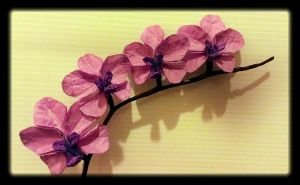 Origami Orchids by OrigamiChemist