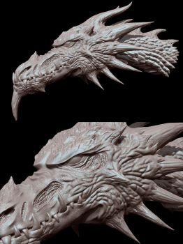 Dragon Head Sculpt (3D) by StormXF3
