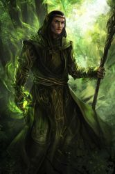 druid-green - commission by h1fey