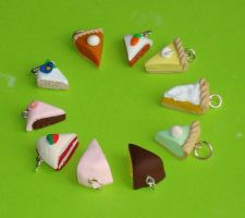 Cake charms by ClayConnections