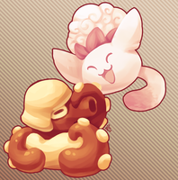 [Protomon] Jumpluff and Octilery by lurils