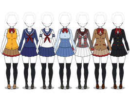 Yandere Simulator uniforms + EXPORTS by VaNeSsA-SaNa-DoOdLeS