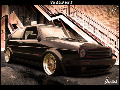 Vw Golf mk2 by Dariich