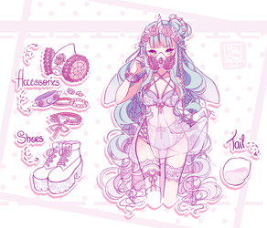 [CLOSED] ADOPT AUCTION - Pastels and Spikes by MiiaChuu