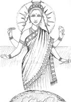 Bhudevi - Indian Earth Goddess by LoVeras