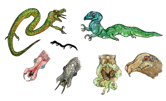 Scaled Tunnelsnakes by Malicious-Monkey