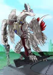 Vrytah (Fullbody and Weaponry) by Dragonsfriend90