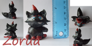 Zorua Sculpure by alicesstudio