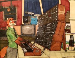 Nick and the Synth by ArtRock15